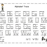 The Alphabet Tracing | Preschool Worksheets, Abc Tracing inside Tracing Letters And Numbers Printable Worksheets