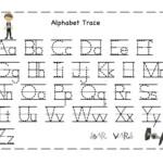 The Alphabet Tracing | Preschool Worksheets, Abc Tracing pertaining to Alphabet Tracing Letters Font