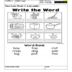 Three Letter Words With 'o' In The Middle Worksheet pertaining to Tracing 3 Letter Words Worksheets
