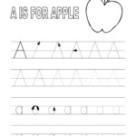 Trace Alphabet Letters For Educative Task Of Pre-Writing with Tracing Letters For 3 Years Old