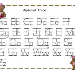 Trace Alphabet Letters To Print | Kiddo Shelter | Tracing in Tracing Letters For 4 Year Olds