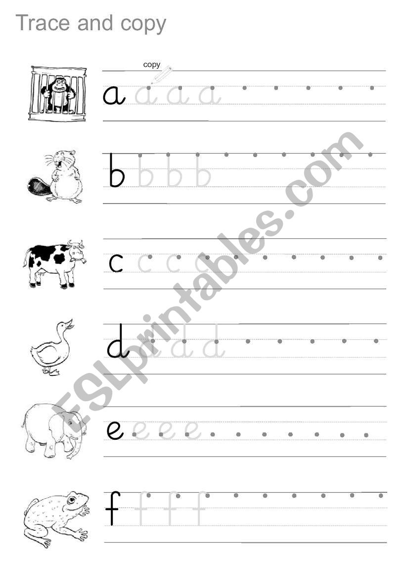 Trace And Copy - Esl Worksheethamadaasemsem with regard to Tracing And Copying Letters Worksheets