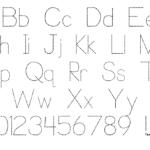 Trace Font For Kids | Designedp. J. Cassel for Tracing Letters Font