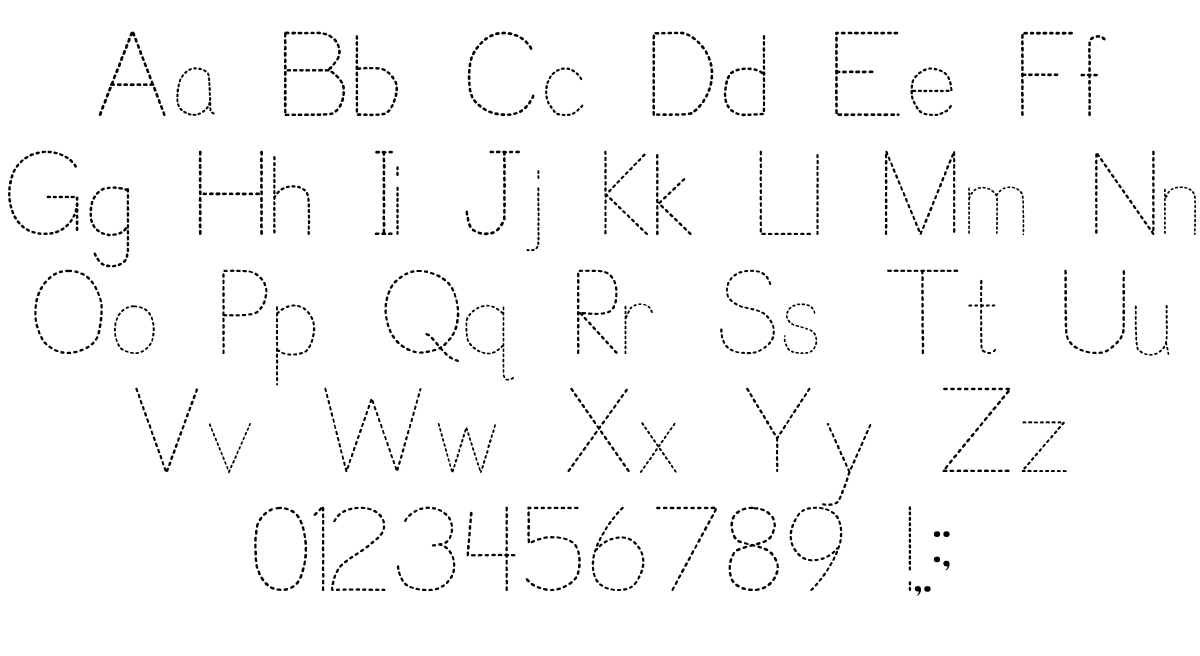 Trace Font For Kids | Designedp. J. Cassel for Tracing Letters Font