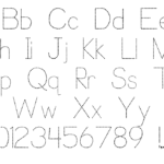 Trace Font For Kids | Designedp. J. Cassel pertaining to Dotted Letters For Tracing Font