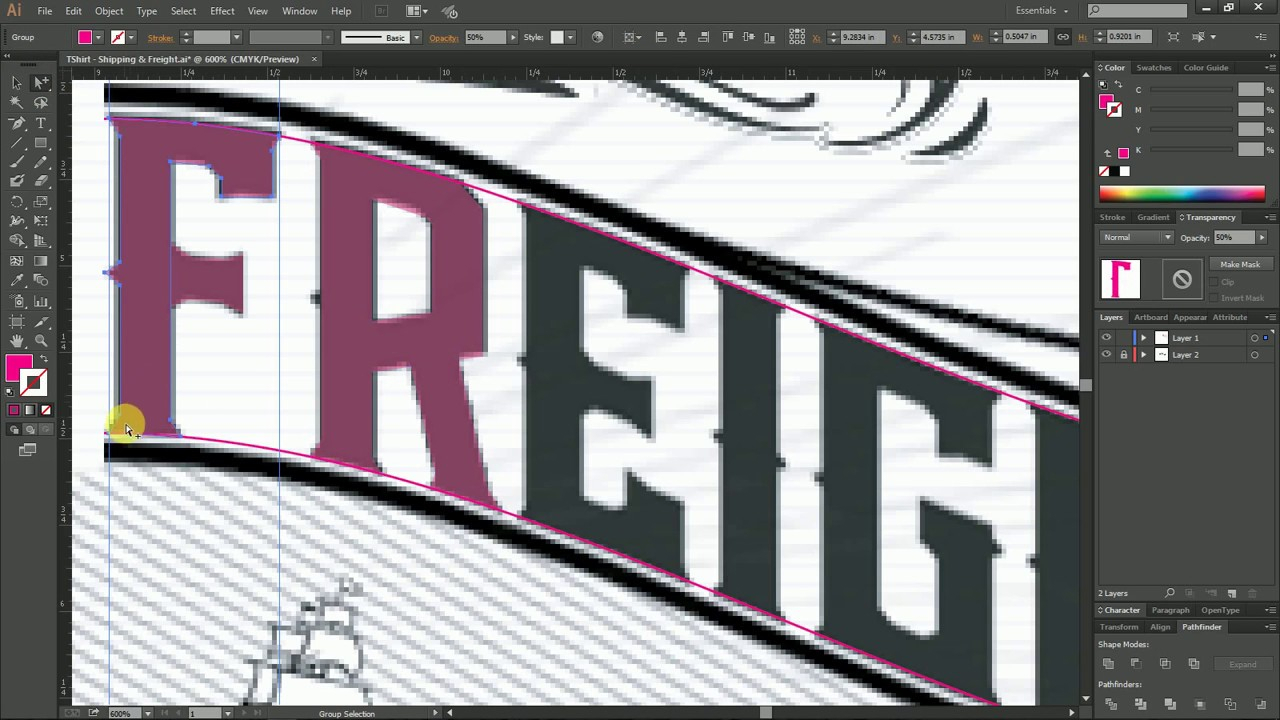 Trace Font Text In Illustrator in Tracing Letters In Illustrator