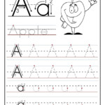 Trace Letter A Sheets To Print | Printable Preschool intended for Printable Tracing Letters For Kids