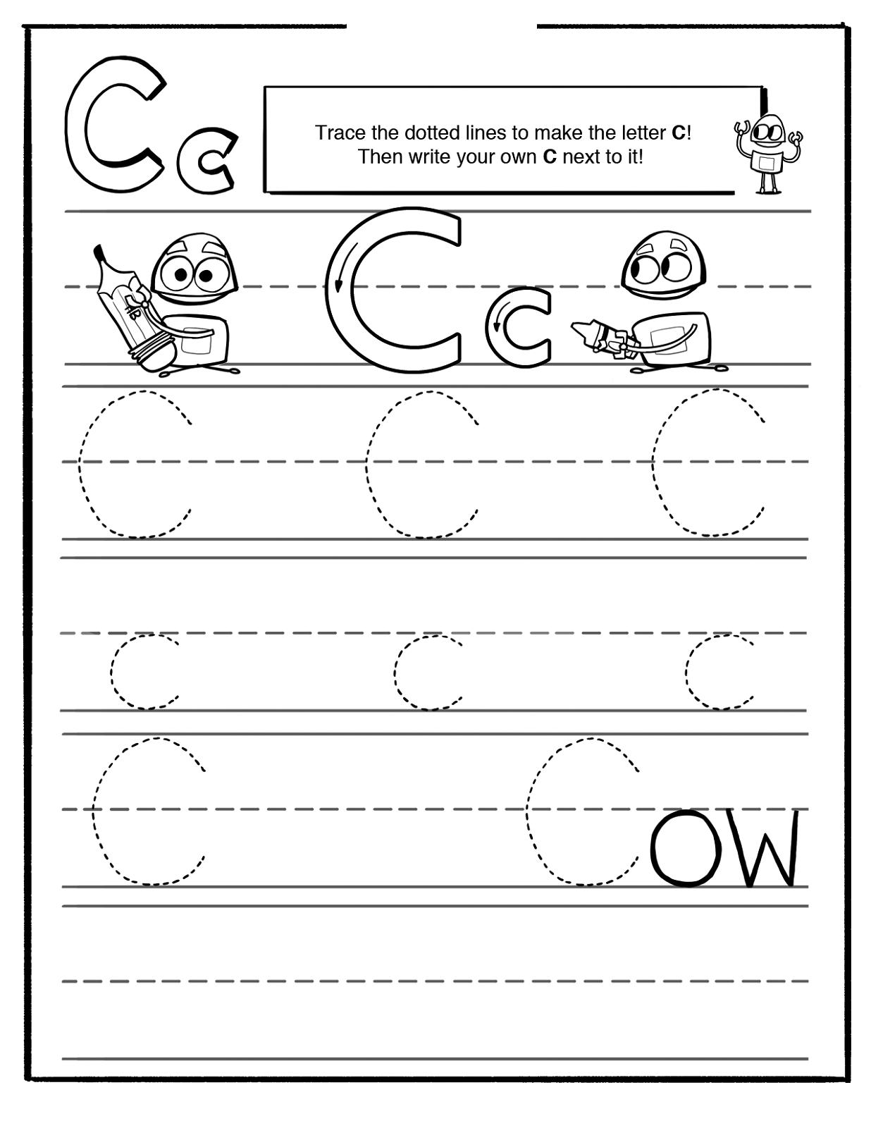 Trace Letter C Worksheets | Activity Shelter intended for Tracing Letter C Worksheets