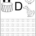 Trace Letter D Worksheets Activity Shelter | Alphabet in Letter Tracing Worksheets Editable