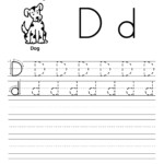 Trace Letter D Worksheets | Activity Shelter within Letter Tracing Worksheets Uk