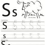 Trace Letter S | Kids Activities for Tracing Letters S