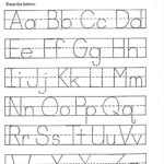 Trace Letter Worksheets Free | Activity Shelter regarding Free Tracing Letters