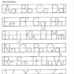 Trace Letter Worksheets Free | Alphabet Tracing Worksheets pertaining to Printable Tracing Letters For Pre K