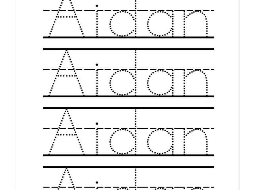 Trace Your Name Printables - Wpa.wpart.co pertaining to Tracing Letters Editable