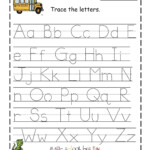 Traceable Alphabet For Learning Exercise | Letter Tracing pertaining to Free Printable Abc Tracing Letters