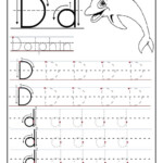 Traceable Letter Worksheets - Kids Learning Activity for Trace Letter D Worksheets Preschool