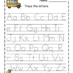 Traceable Letter Worksheets To Print | Arbeitsblätter Zum in Tracing Letters Worksheets To Print