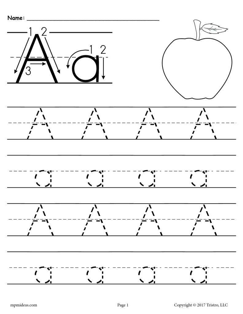Traceable Lower Case Letters in Tracing Lowercase Letters For Preschool