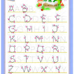 Tracing Abc Letters For Study English Alphabet. Worksheet regarding Tracing Alphabet Letters For Kindergarten