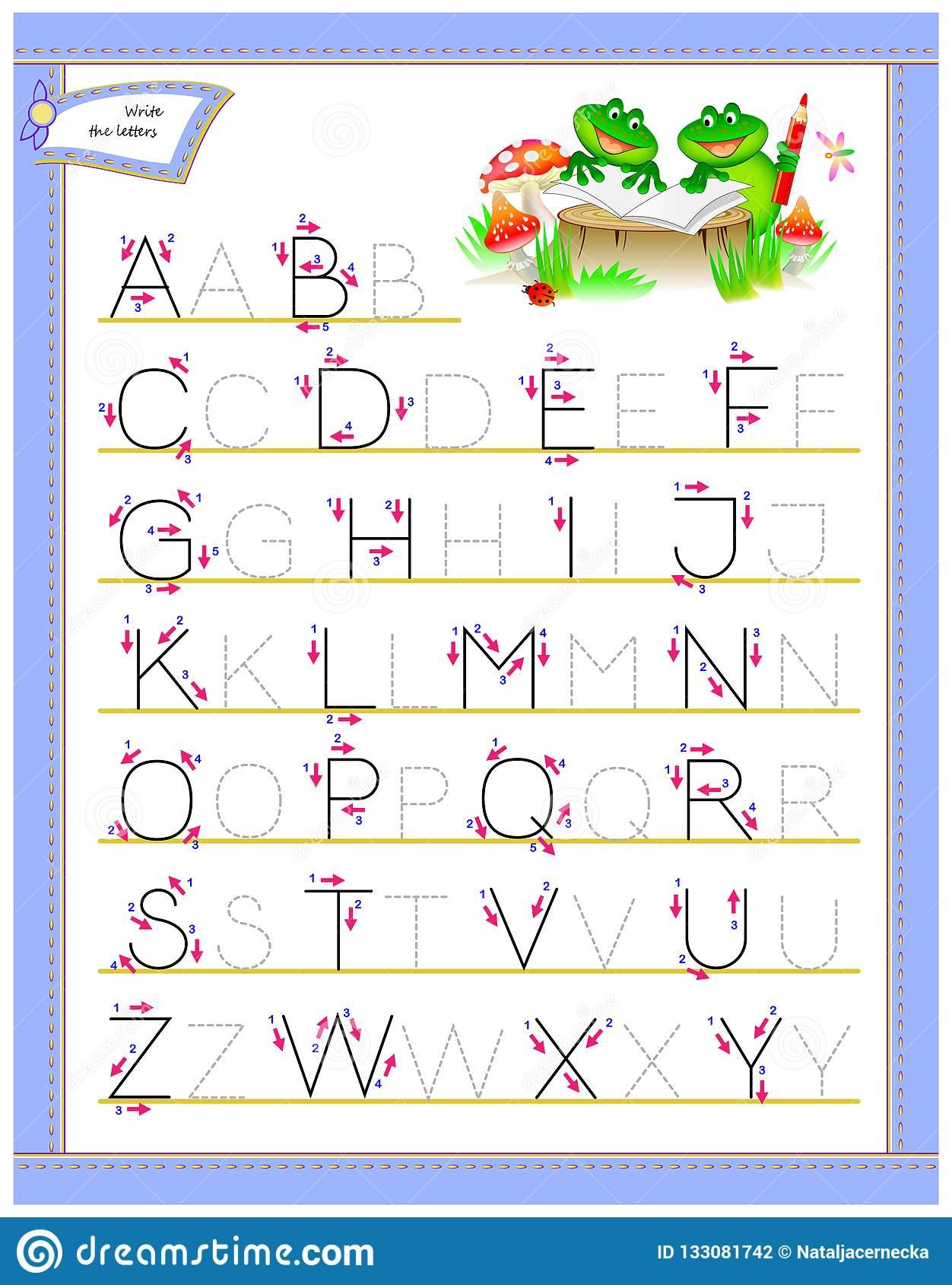 Writing Letters For Kindergarten Worksheets