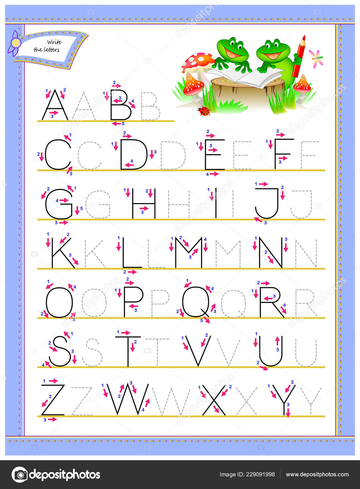 Tracing Abc Letters Study English Alphabet Worksheet Kids pertaining to Tracing Letters Of The Alphabet For Preschoolers