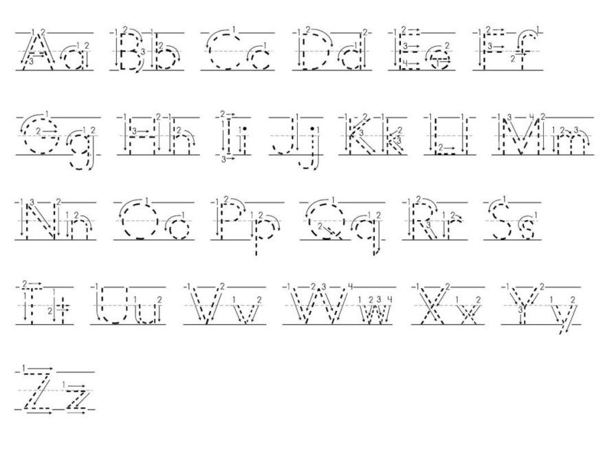 Tracing Abc With Arrows Dotted Print   Tracing Letters in Letter Tracing Worksheets With Arrows