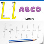 Tracing Alphabet Template For Letter L — Stock Vector throughout Tracing Letters Template