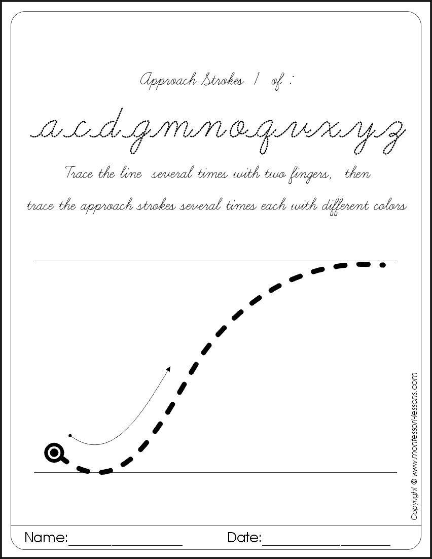 Tracing Approach Letters, Cursive, Big with regard to Tracing Letters Cursive