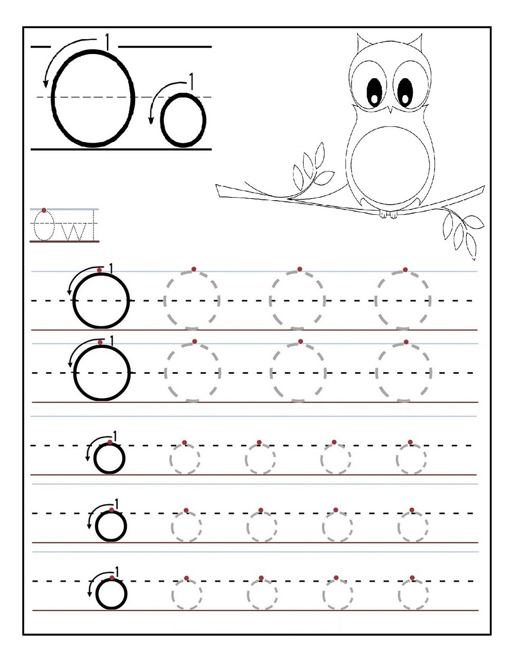 Tracing Letter O Worksheets | Activity Shelter inside Tracing Letter O Worksheets