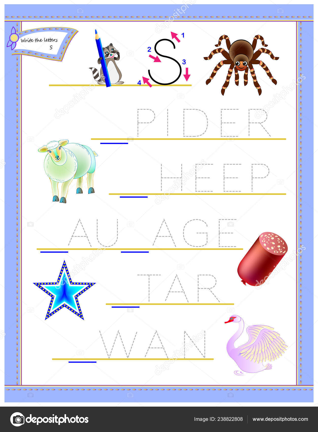 Tracing Letter Study English Alphabet Printable Worksheet regarding Children's Tracing Letters
