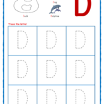 Tracing Letters - Alphabet Tracing - Capital Letters with Trace Letter D Worksheets Preschool