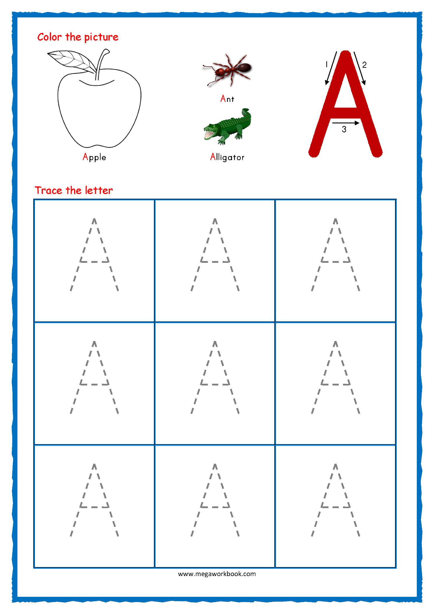 Alphabet Tracing Worksheets For Kindergarten Pdf