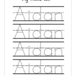 Tracing Name Sheets - Wpa.wpart.co with regard to Preschool Tracing Letters Name