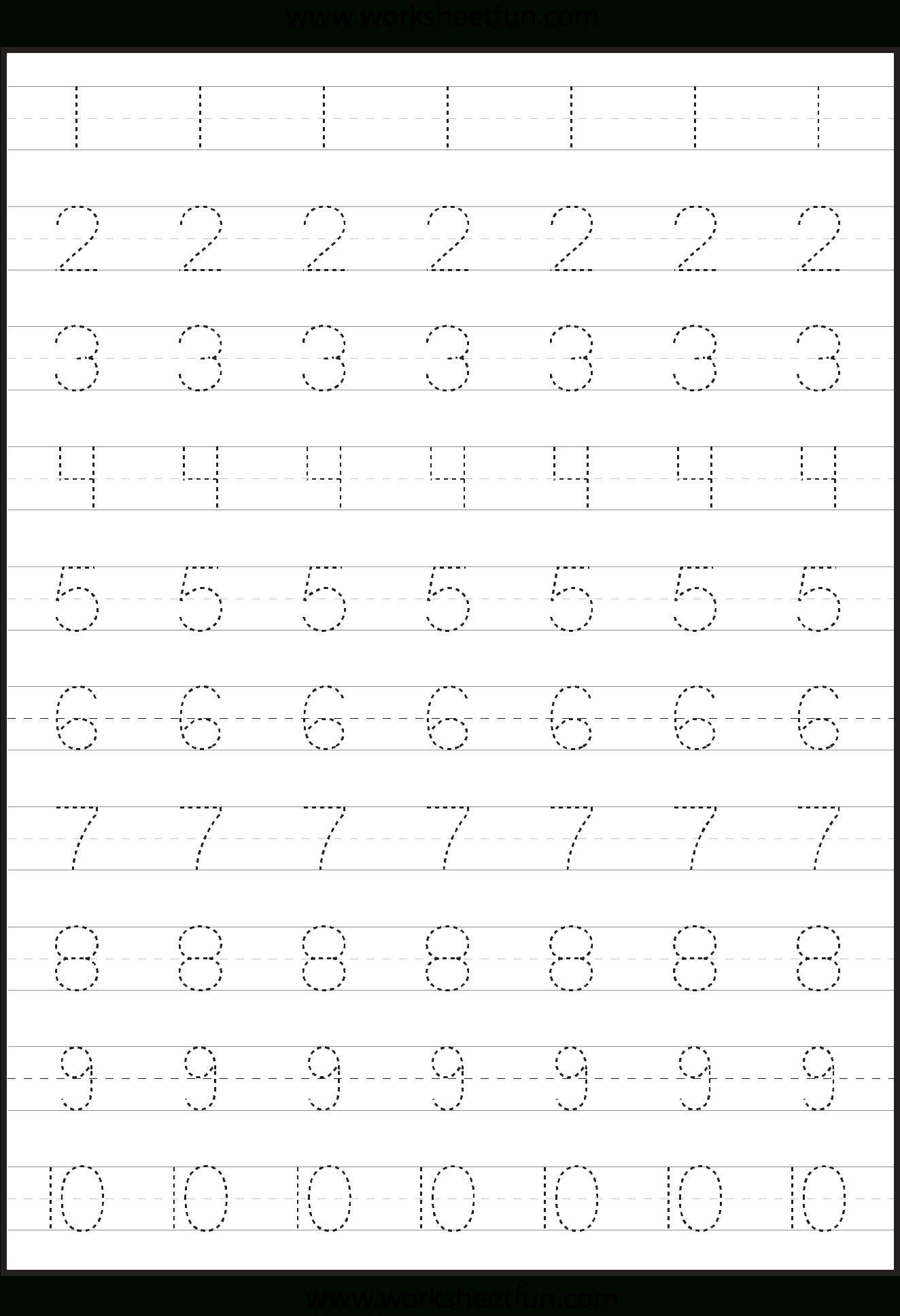 Tracing Numbers Worksheets Kindergarten And An For Writing with Tracing Vowel Letters Worksheet