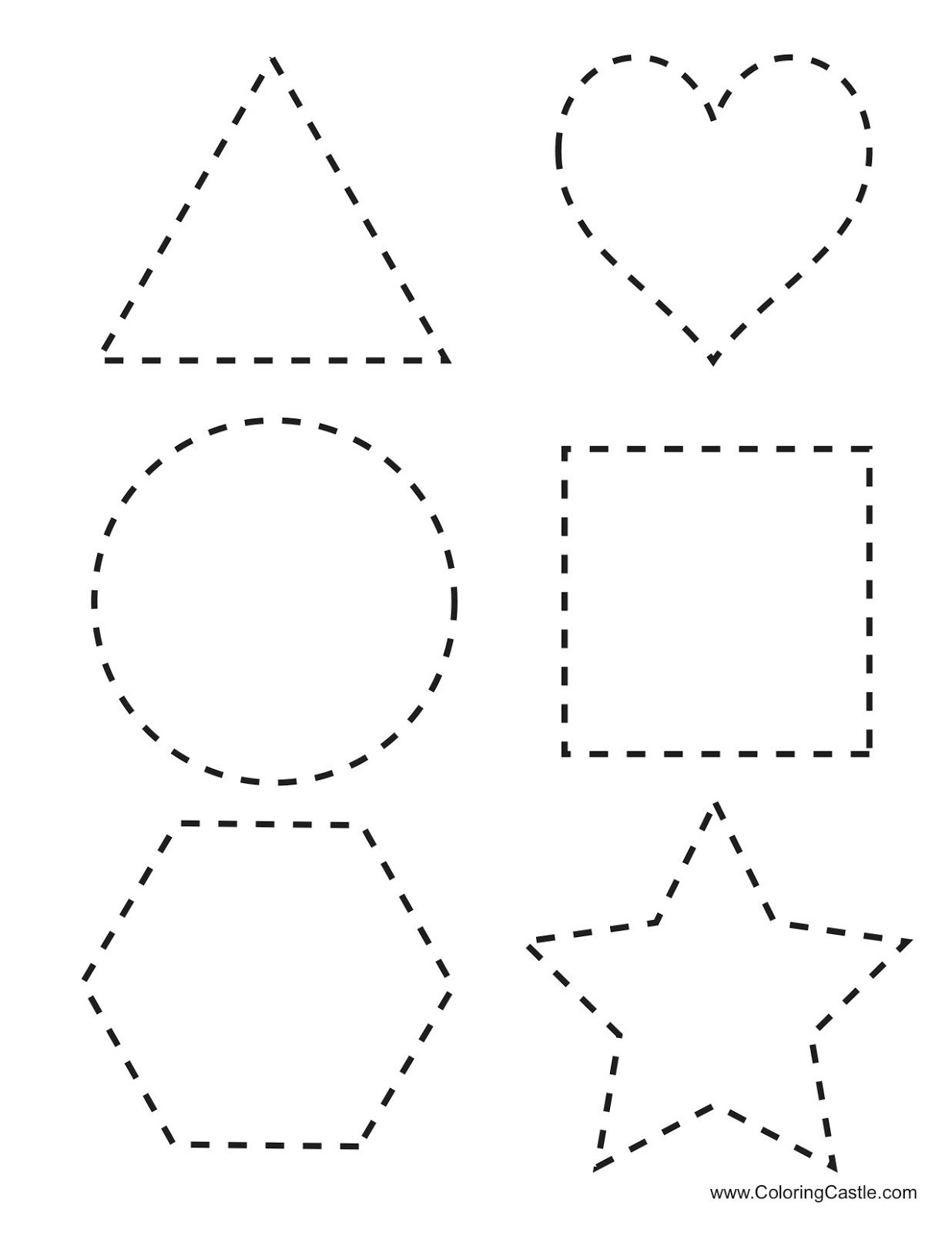 Tracing Shapes Printables | Tracing Shapes Download Here Six pertaining to Tracing Shapes And Letters