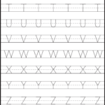 Tracing – Uppercase Letters – Capital Letters – 3 Worksheets with Tracing Capital Letters For Preschool