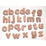 Tracing Wooden Letter Ref. Jj073 Language & Literacy inside Wooden Tracing Letters