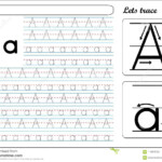 Tracing Worksheet -Aa Stock Vector. Illustration Of Small in Handwriting Tracing Letters