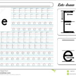 Tracing Worksheet -Ee Stock Vector. Illustration Of Small in E Letter Tracing Worksheet