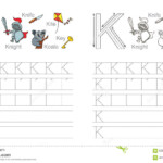 Tracing Worksheet For Letter K Stock Vector - Illustration inside Tracing Letter K Worksheets