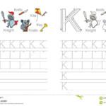 Tracing Worksheet For Letter K Stock Vector - Illustration inside Tracing Letter K Worksheets
