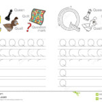 Tracing Worksheet For Letter Q Stock Vector - Illustration intended for Tracing Letter Q Worksheets