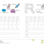 Tracing Worksheet For Letter R Stock Vector - Illustration intended for Tracing Letter R Worksheets