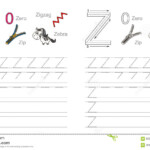 Tracing Worksheet For Letter Z Stock Vector - Illustration regarding Tracing Letters A To Z