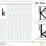 Tracing Worksheet -Kk Stock Vector. Illustration Of Help regarding Tracing Letter K Worksheets