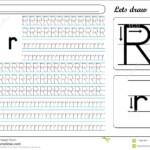Tracing Worksheet -Rr Stock Vector. Illustration Of Tracing with Tracing Letter R Worksheets