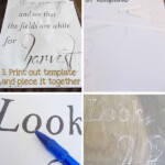 Transfer Words Onto Canvas Using A Chalk Technique. Great in Tracing Letters Onto Wood