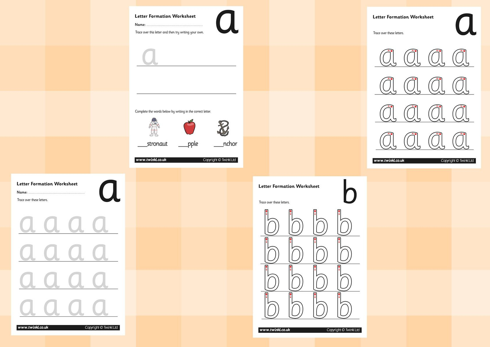 Twinkl Resources >> A-Z Letter Formation Worksheets for Letter Tracing Worksheets Twinkl