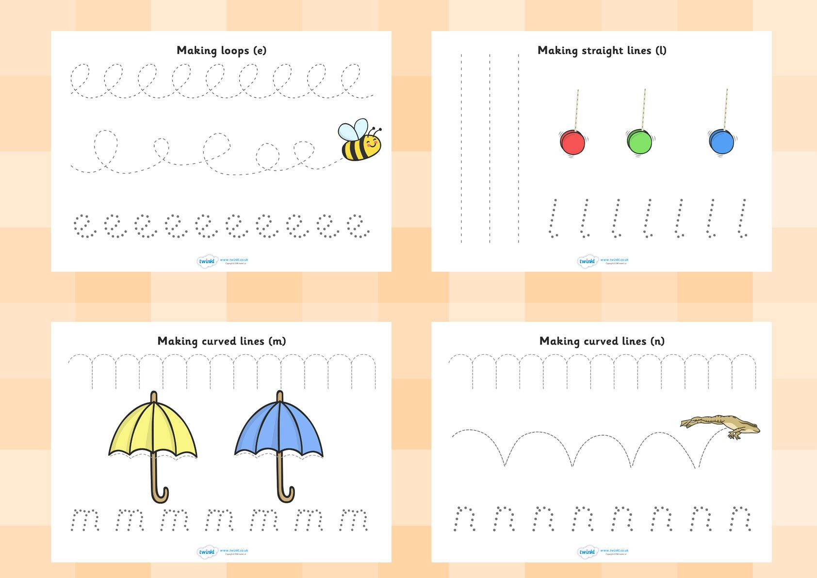 Twinkl Resources >> Pencil Control Worksheets >> Printable in Letter Tracing Worksheets Twinkl