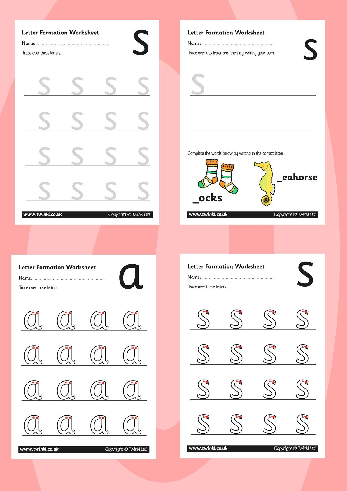 Twinkl Resources >> Phase 2 Letter Formation Worksheets for Letter Tracing Worksheets Twinkl